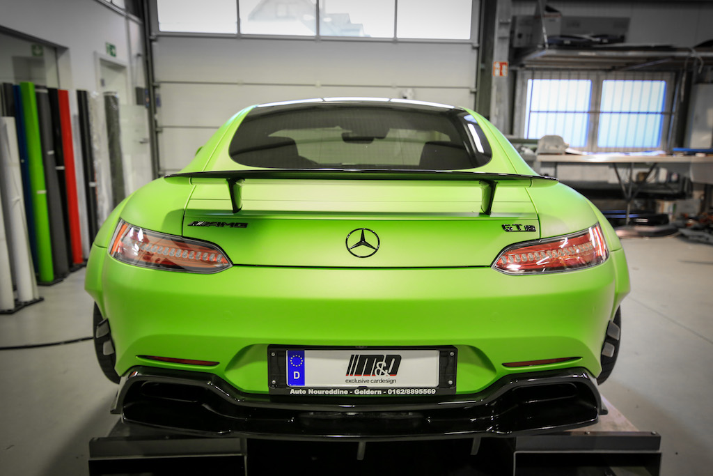 Mercedes AMG GTS Prior-Design PD800GT Widebody - Premiumfolierung PWF-BRUXAFOL Matt Lemon Grass Metallic by M&D (18)