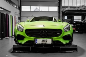 Mercedes AMG GTS Prior-Design PD800GT Widebody - Premiumfolierung PWF-BRUXAFOL Matt Lemon Grass Metallic by M&D (4)